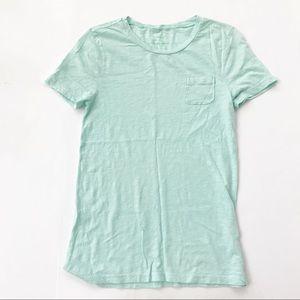 J Crew Vintage Jersey Pocket Tee Shirt Mint S